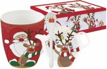 Набор из кружки, ложки и подставки Christmas Friends