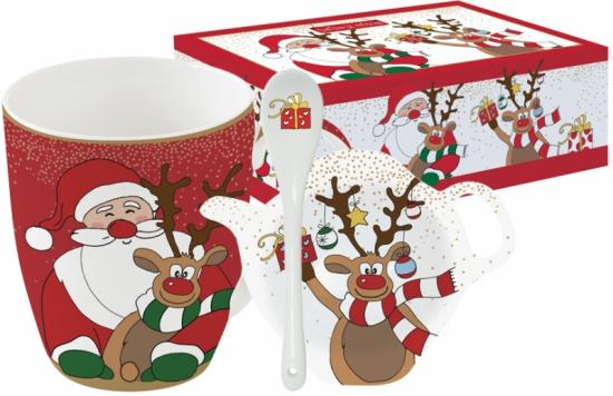 Набор из кружки, ложки и подставки Christmas Friends 1