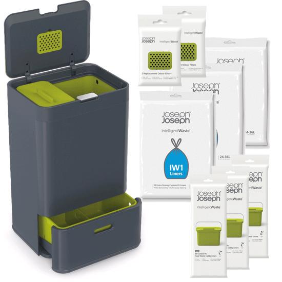 Комплект контейнер для мусора и аксессуары Joseph Joseph Intelligent Waste™ 1