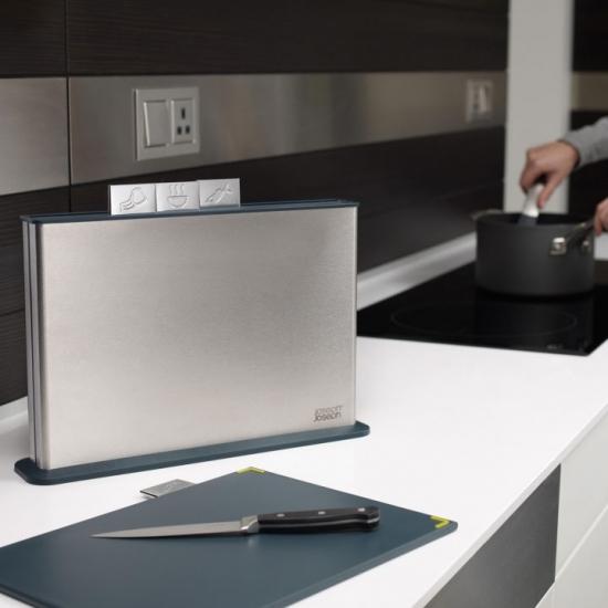 Комплект разделочных досок и ножей Joseph Joseph Knives and Index steel 3