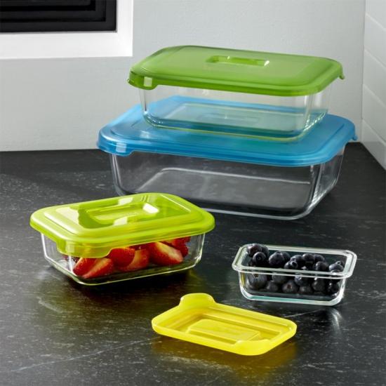 Комплект из восьми стеклянных контейнеров Joseph Joseph Nest™ Glass Storage Set 4X2 2