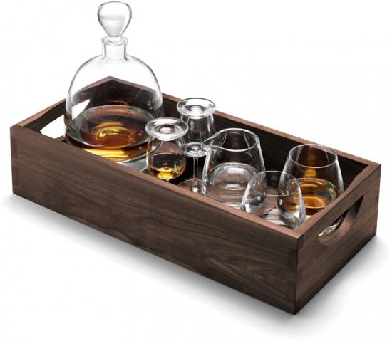 Набор для ценителей виски с деревянным подносом Islay Whisky 1