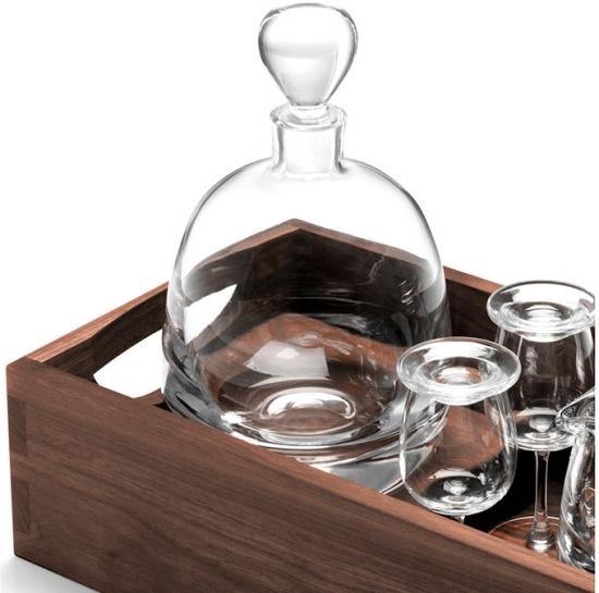 Набор для ценителей виски с деревянным подносом Islay Whisky 3