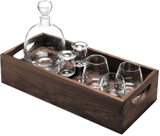Набор для ценителей виски с деревянным подносом Islay Whisky 2