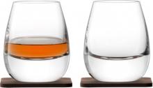 Стакан с деревянной подставкой Islay Whisky 2 шт.