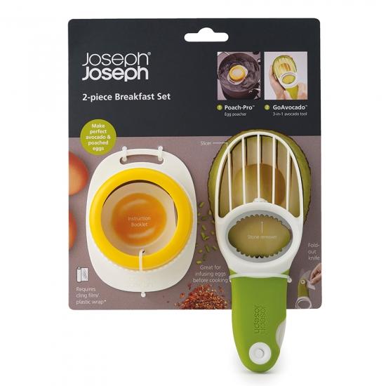 Форма для яиц пашот и нож для авокадо Joseph Joseph Breakfast Set 3