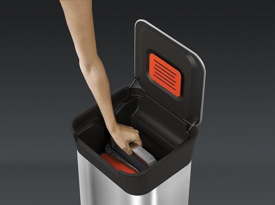 Контейнер для мусора с прессом Joseph Joseph Titan Steel 20 L 3