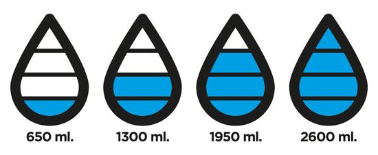 Бутылка для воды с счётчиком выпитого Aqua Tritan 650 ml 5