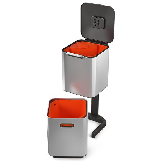 Контейнер для мусора с двумя баками Joseph Joseph Totem Compact Steel 40 L 6