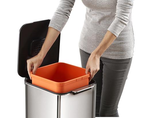 Контейнер для мусора с двумя баками Joseph Joseph Totem Compact Steel 40 L 15