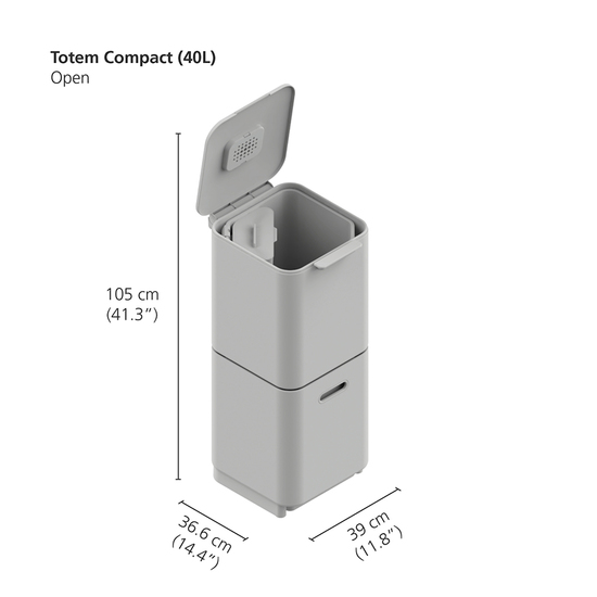 Контейнер для мусора с двумя баками Joseph Joseph Totem Compact Steel 40 L 20