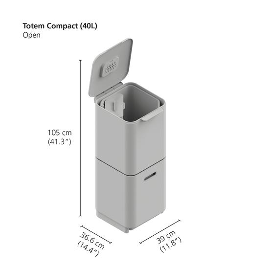 Контейнер для мусора с двумя баками Joseph Joseph Totem Compact 40 L 18