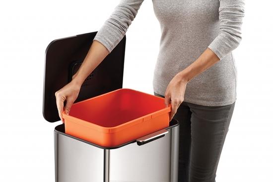Контейнер для мусора с двумя баками Joseph Joseph Totem Max 60 L Steell 8