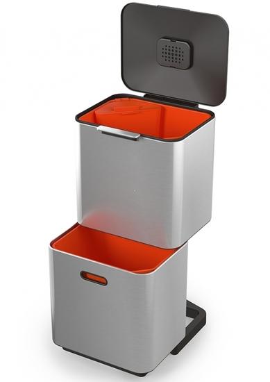 Контейнер для мусора с двумя баками Joseph Joseph Totem Max 60 L Steell 2