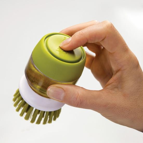 Щетка для мытья посуды с дозатором моющего средства Joseph Joseph Palm Scrub™ 6