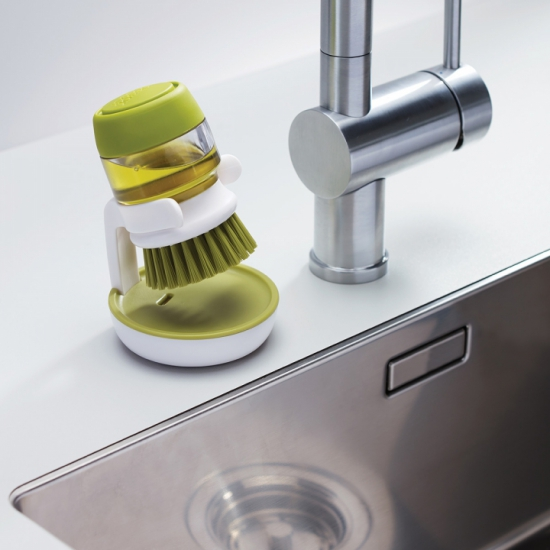 Щетка для мытья посуды с дозатором моющего средства Joseph Joseph Palm Scrub™ 1