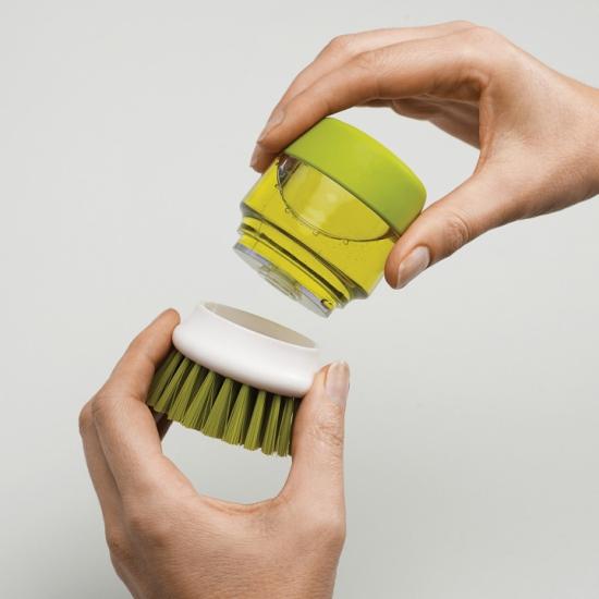 Щетка для мытья посуды с дозатором моющего средства Joseph Joseph Palm Scrub™ 5