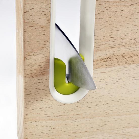 Деревянная разделочная доска с ножеточкой Joseph Joseph Slice&Sharpen™ Wood 3