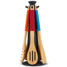 Набор деревянных лопаточек на подставке Joseph Joseph Elevate™ Wood Carousel Colorful