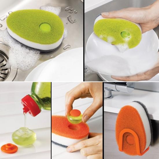 Губка для посуды с капсулой для  моющего средства Joseph Joseph Soapy Sponge 3