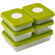 Контейнеры для хранения продуктов с маркировкой даты Joseph Joseph Dial 5-Piece Rectangular Storage Set