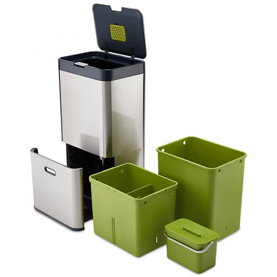 Контейнер для сортировки мусора Joseph Joseph Intelligent Waste™ Totem 60L Stainless Steel 1
