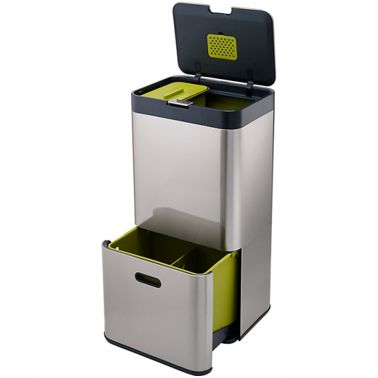 Контейнер для сортировки мусора Joseph Joseph Intelligent Waste™ Totem 60L Stainless Steel 4