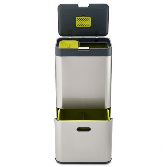 Контейнер для сортировки мусора Joseph Joseph Intelligent Waste™ Totem 60L Stainless Steel 3