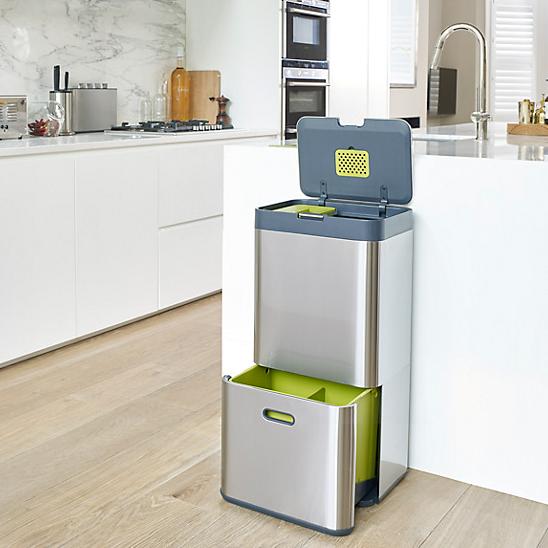 Контейнер для сортировки мусора Joseph Joseph Intelligent Waste™ Totem 60L Stainless Steel 2