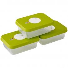 Контейнеры для хранения продуктов с маркировкой даты Joseph Joseph Dial 3-Piece Rectangular Storage Set