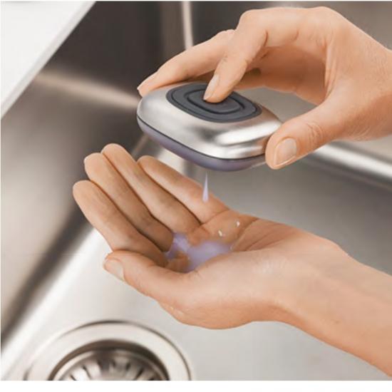 Металлическое мыло с дозатором Joseph Joseph SmartBar Refillable Soap Bar 2
