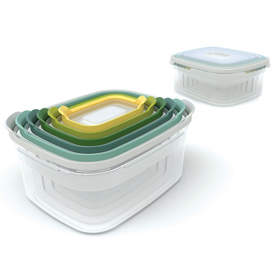 Комплект из 12 контейнеров для хранения продуктов Joseph Joseph Nest Storage Set 6x2 4