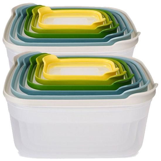 Комплект из 12 контейнеров для хранения продуктов Joseph Joseph Nest Storage Set 6x2 3