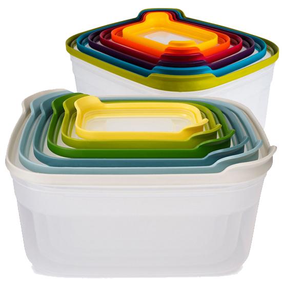 Комплект из 12 контейнеров для хранения продуктов Joseph Joseph Nest Storage Set 6x2 2