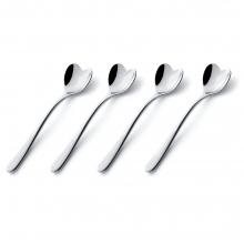 Набор ложек для кофе Set of 4 Heart-Shaped Spoons