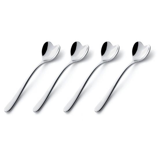 Набор ложек для кофе Set of 4 Heart-Shaped Spoons 1
