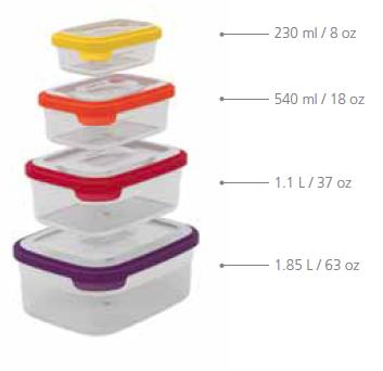 Контейнеры для хранения продуктов Joseph Joseph Nest™ Storage Set of 4 5